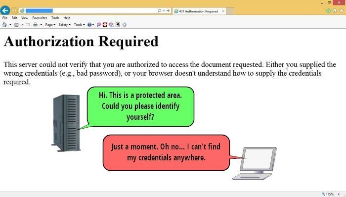 ارور 401 – درخواست نامعتبر (Authorization Required)