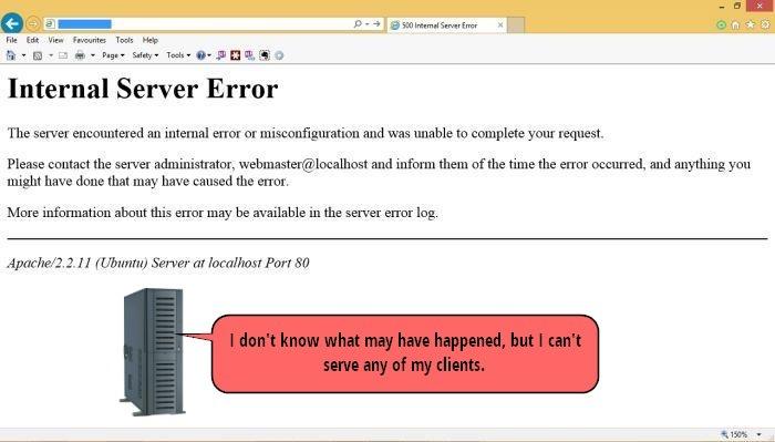 ارور 500 – خطای داخلی سرور (Internal Server Error)