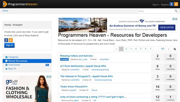 وب سایت programmers heaven