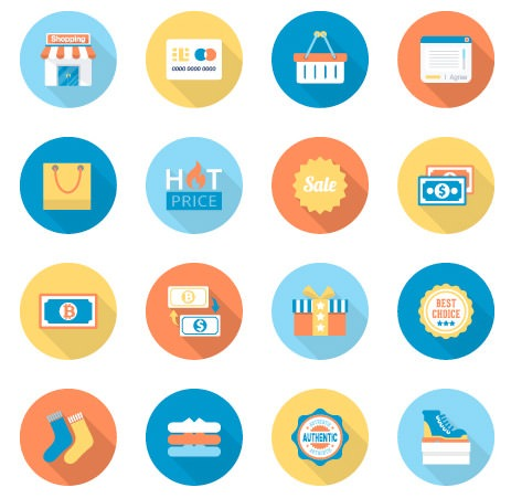 flat-e-commerce-icons-set