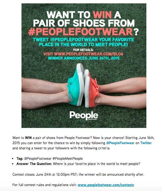 مسابقه شرکت People Footwear