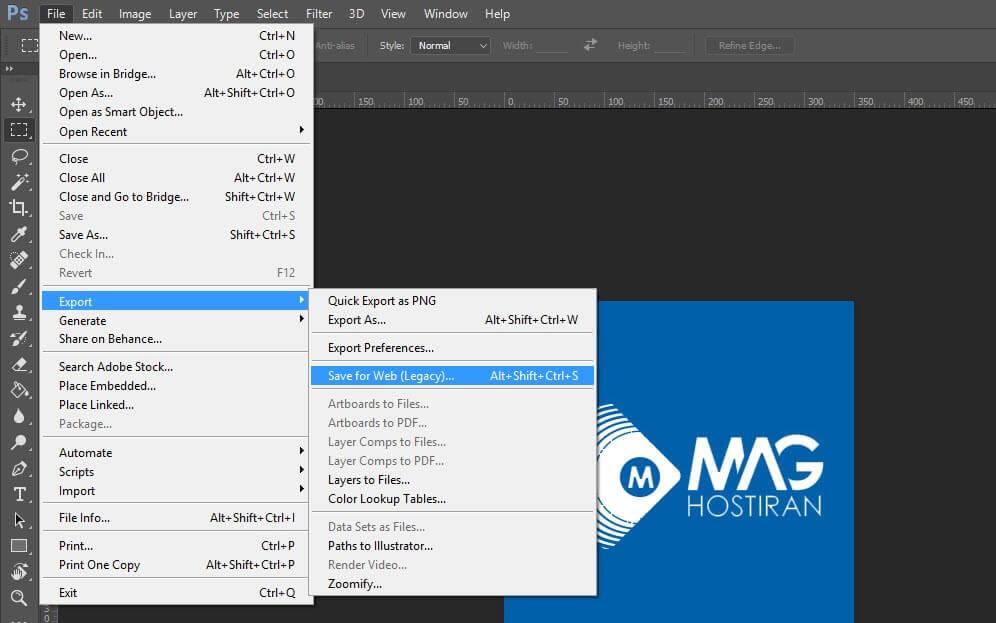 بهینهسازی تصاویر با استفاده از فتوشاپ