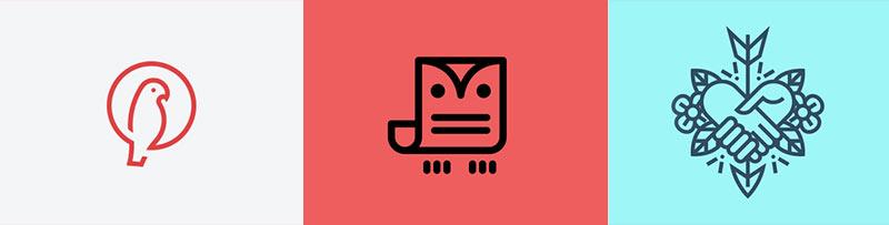 طراحی لوگوی خطی