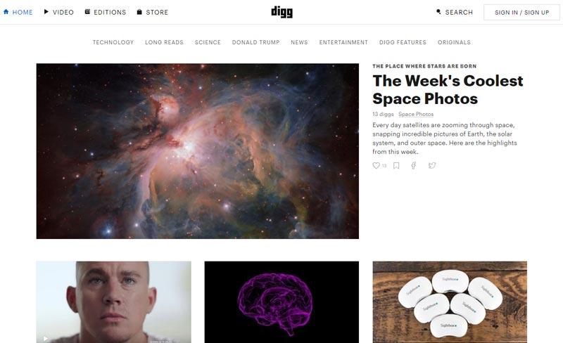نسخه جدید سایت digg پس از طراحی مجدد