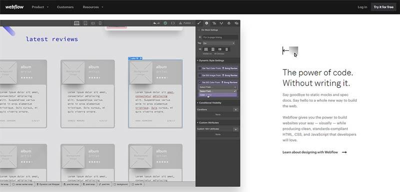 وبسایت Webflow
