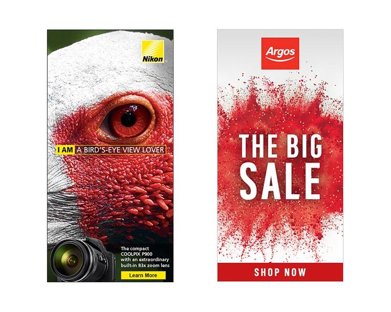 بنر تبلیغاتی شرکت Nikon و Argos