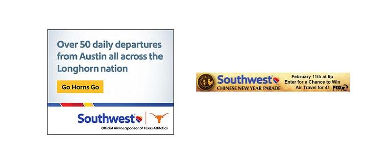 بنر تبلیغاتی شرکت Southwest