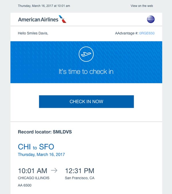 دکمه CAT- American Airlines