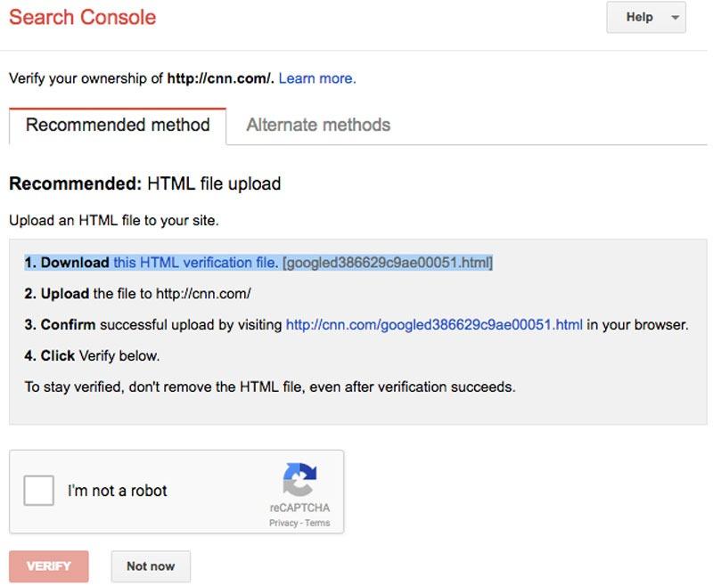 تنظیمات گوگل سرچ کنسول
