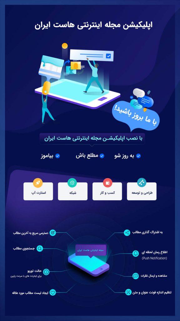 اپلیکیشن مجله خبری اینترنتی هاست ایران