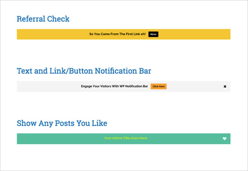 wp notification bar plugin