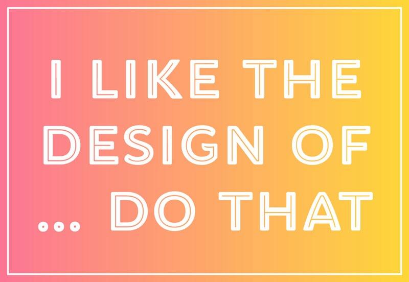من فلان طراحی را دوست دارم، چیزی شبیه به آن برایم انجام بده