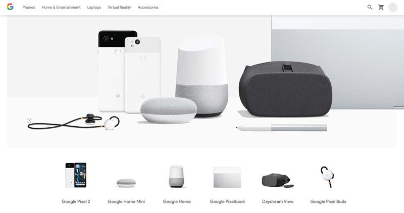 سادگی طراحی صفحه های گوگل