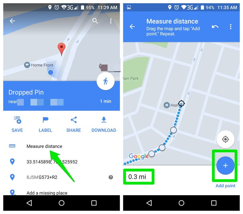 تخمین مسافت گوگل مپ