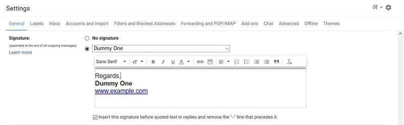 check-signature-gmail