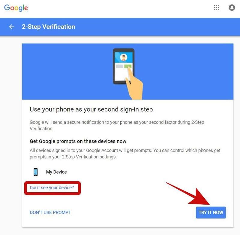 راه اندازی 2-Step Verification جیمیل