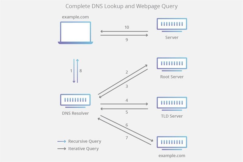 مراحل بررسی DNS