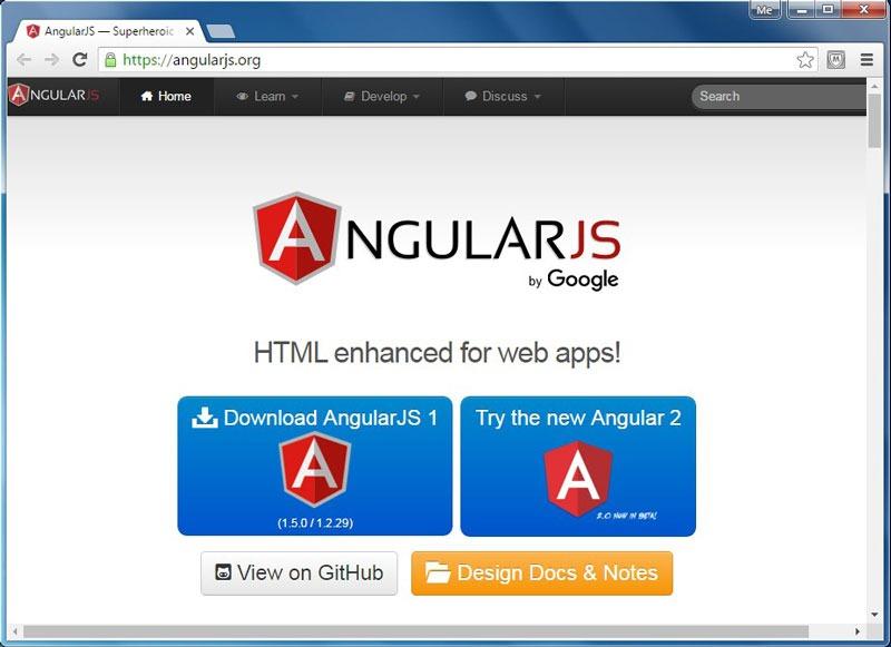 وب سایت angular.js