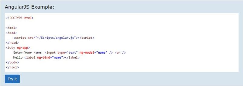 نمونه کد های angularjs