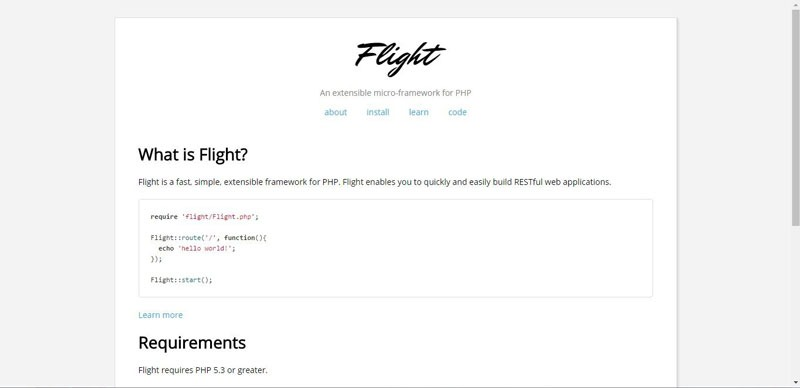 فریمورک فلایت (Flight)