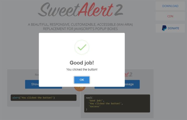 sweetalert2-plugin