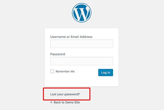 فراموشی رمز عبور در وردپرس