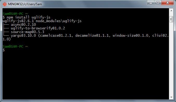 نصب npm به صورت local