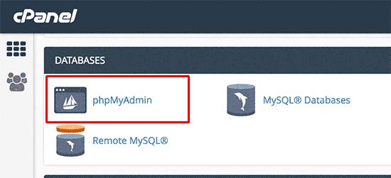 تغییر رمز در phpmyadmin