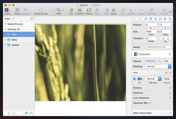 استایلهای اشتراکی در Sketch App