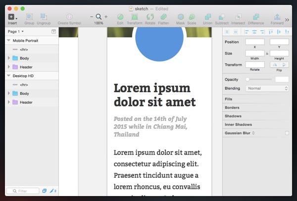 استایلهای متنی در sketch app
