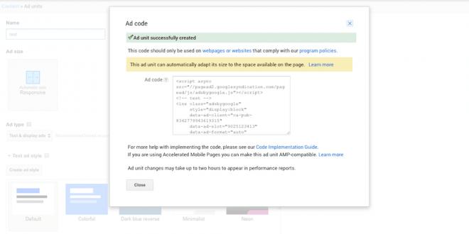 چگونه اندازه تبلیغات گوگل ادسنس را مشخص کنیم