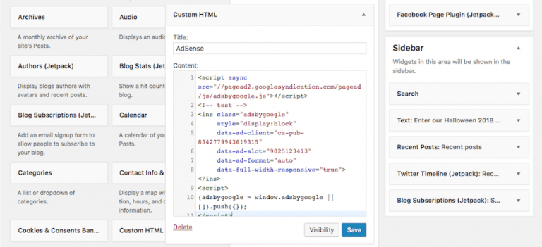 قرار دادن گوگل ادسنس در وب سایت وردپرسی