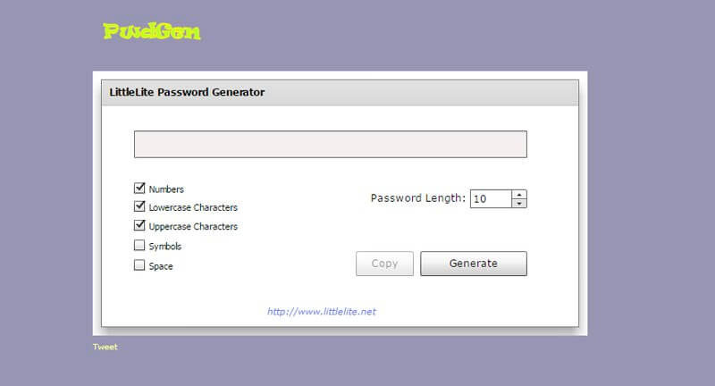 LittleLite Password Generator