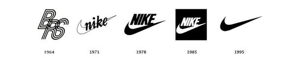 تغییرات لوگوی نایکی