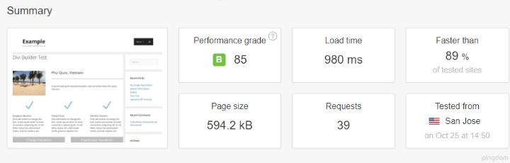 بررسی سرعت وبسایت با پلاگین WP Super Cache در pingdom