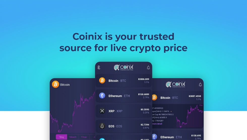 CoinIX، اپلیکیشن اطلاعرسانی و مدیریت نرخ لحظهای ارزهای دیجیتال