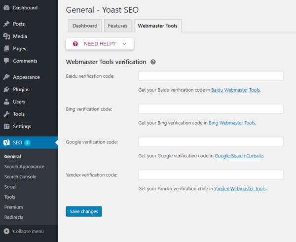 Webmaster tools در گوگل سرچ کنسول