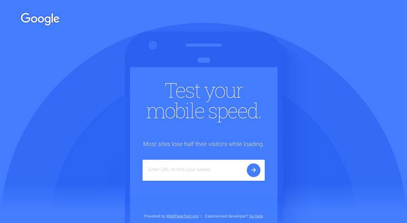 ابزار بررسی سرعت سایت در موبایل