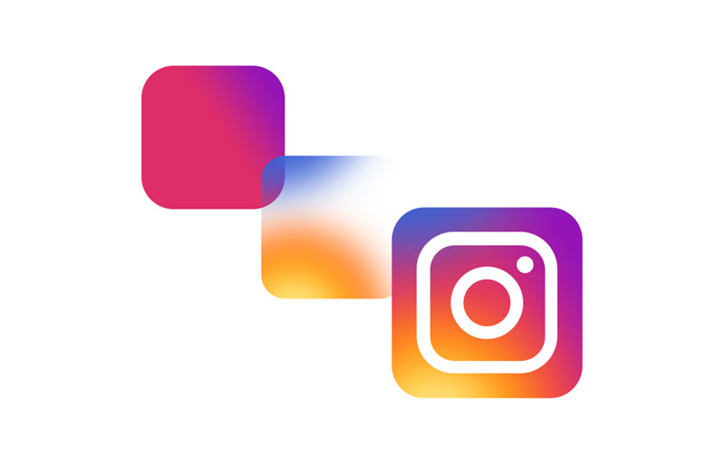 طراحی گرادینت در لوگوی اینستاگرام