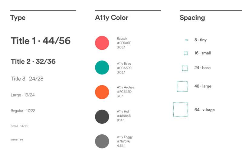 رنگ های استفاده شده در airbnb
