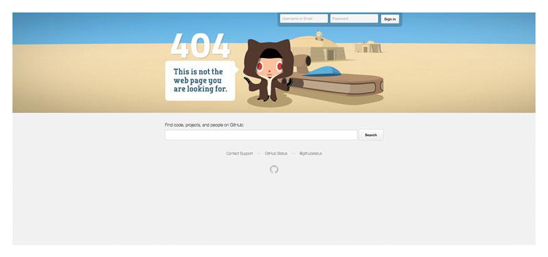 Github 404 page