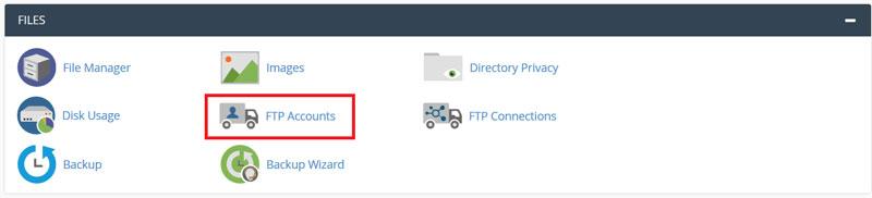 راهنمای ایجاد اکانت FTP در سی پنل