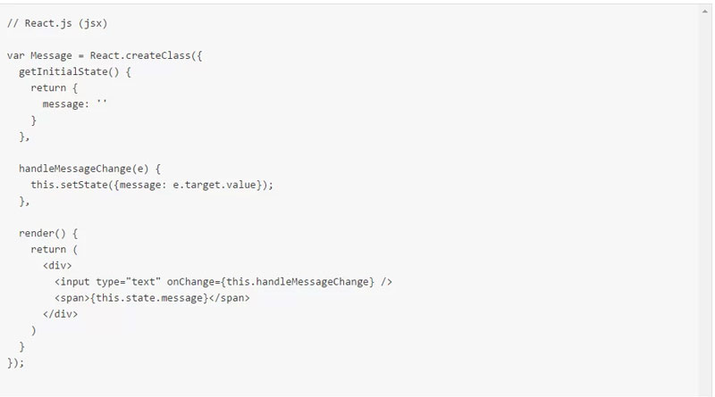 روش انجام Data Binding در React
