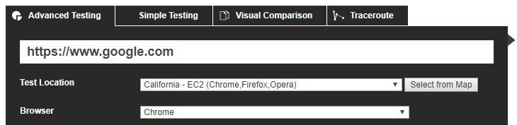 ابزار بررسی webpagetest