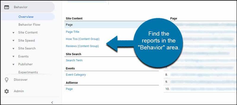 بخش Behavior در گوگل آنالیتیکس