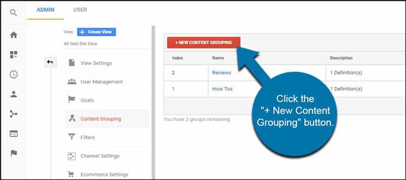 + New Content Grouping در گوگل آنالیتکس