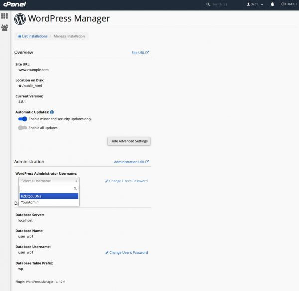 فعال کردن WordPress Manager در cPanel